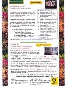 lettre Santé Les Champignons CSAPA 37