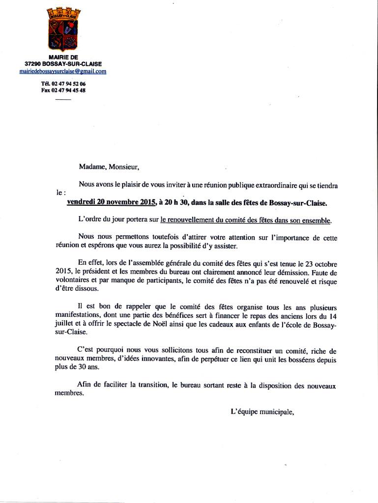 convocation renouvellement comité des fêtes 20 11 2015