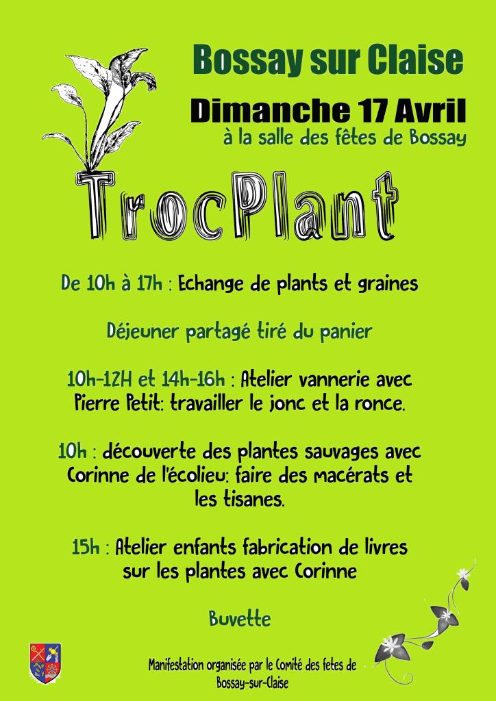 Affiche Troc Plant Bossay 17 04 2016