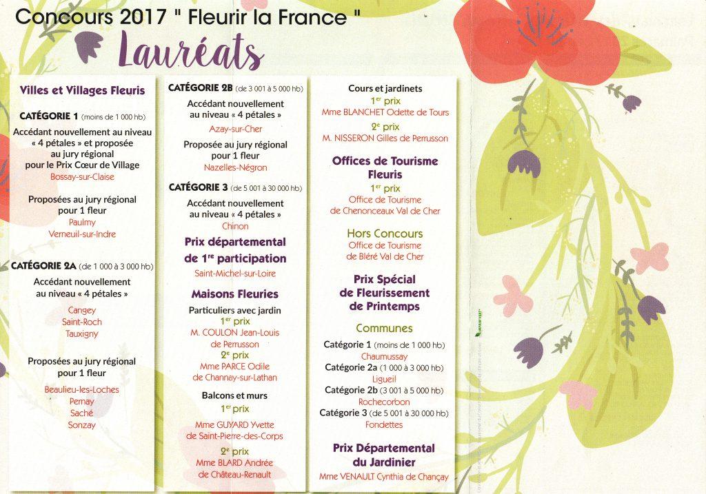 Prix fleurissement départemental 2017
